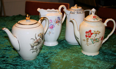 Kaffekander i porcelæn