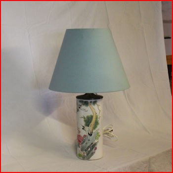 Kinesisk lampe med rund skærm