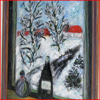 Maleri Vinterlandskab