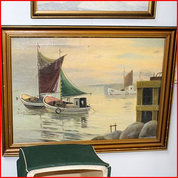 Fiskebåd i vand