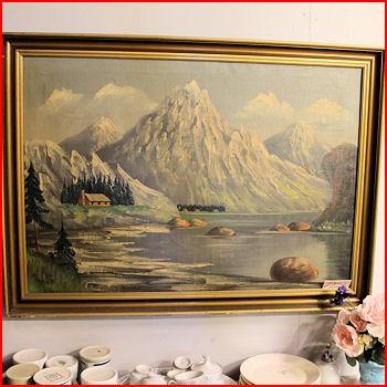 Maleri m/bjerge
