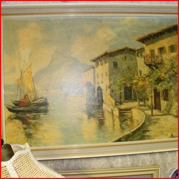 Maleri huse ved kanalen