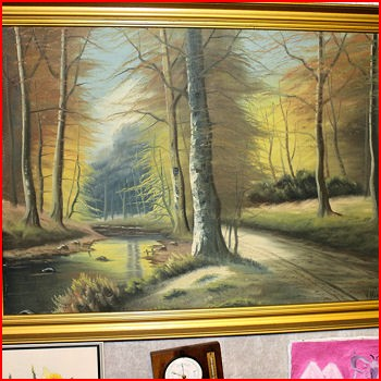 Maleri helt ud i skoven