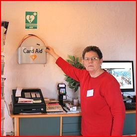 Hjertestarter hos Lailas Loppemarked