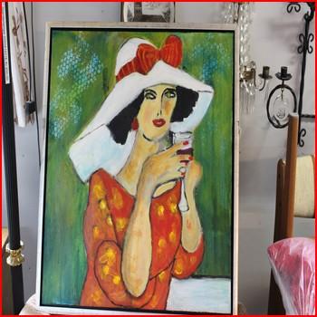 Maleri af fin Dame
